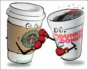 Starbucks vs. Dunkin' Donuts showdown. Who wins?